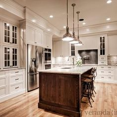 River White Granite Countertops, Transitional, kitchen, Benjamin Moore White Dove, Veranda Interiors