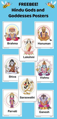 Download and display these FREE, colourful posters in your KS2 classroom to help your children become familiar with the different Hindu Gods and Goddesses. Ks2 Classroom, Primary Classroom, Classroom Displays, Primary School, Religious Education, Hanuman, Thinking Skills, Gods And Goddesses, Religion