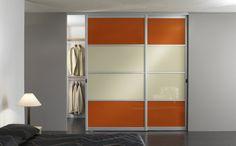 Clémentine ou anis, les portes de placards coulissantes de chez orion #dressing osent !  http://blog.orion-dressings.com/osez-la-couleur-avec-les-portes-de-placard-de-votre-dressing.htm