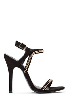 Shoe Cult Chain Reaction Heel - Black
