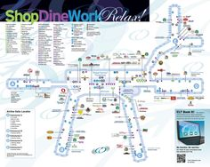 Atlanta Airport Map Our vacation Pinterest Vacation
