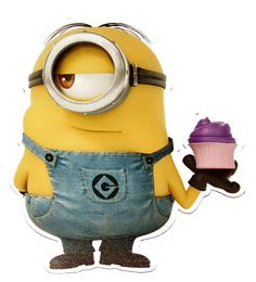 Despicable Me Minion Cupcake Car Fridge Locker Magnet