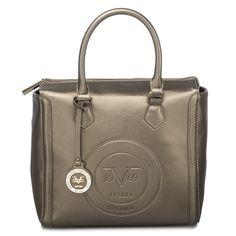 Versace 19 69 Abliamento Sportivo Logo Embossed Square Satchel Gold Bnyhandbags