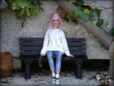Marion #jswdolls #doll #ooak #ooakdoll  #ooakdollrepaint #repaint #repaintdolls #dollphoto #fashiondoll #mattel #barbie #barbiedoll #barbieplayline #clearlan #freackles #pinkhair #pinkhairdoll