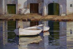 "huariqueje: "" Alcaufar Vell , Menorca - Kiku Poch Catalan Oil on canvas, "" Menorca, Ideas Para, Oil On Canvas, Artwork, Marines, Pouch, Paintings, Rose, Places To Visit"