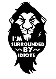 Image result for free svg cutting files Scar Lion King, Lion King Shirt, The Lion King, Silhouette Lion, Silhouette Cameo, Le Roi Lion Film, Im Surrounded By Idiots, Lion King Quotes, Lion King Drawings