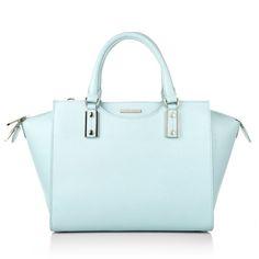 Pretty in pastel & chic in business: Boss Maika-F Tophandle Light/Pastel Blue www.fashionette.de
