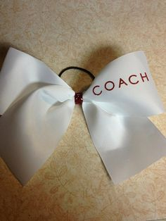 Hey, I found this really awesome Etsy listing at http://www.etsy.com/listing/162855612/coach-cheerleading-bow