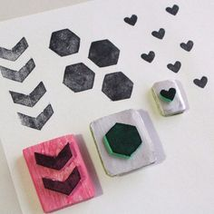 """How to create stamps in two different ways.  With the collaboration of Hannah from """"Hannah Lauren and Co"""""""