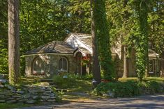 Cottages, Earl Young, Charlevoix, Michigan, mushroom houses, photograph, prints, Mike Barton