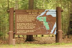 Wisconsin Historical Markers: Nicolet National Forest: Old Military Road