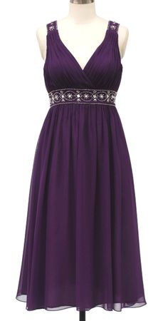 perfect style but in a pale purple or royal peacock blue