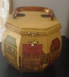 Decopage box purses.
