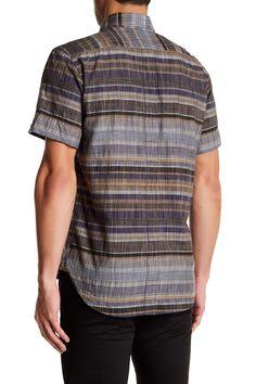 Donelson Standard Fit Short Sleeve Striped Shirt