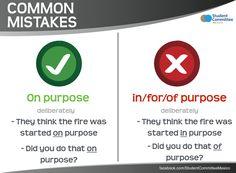 'On purpose' vs 'In/forof purpose'