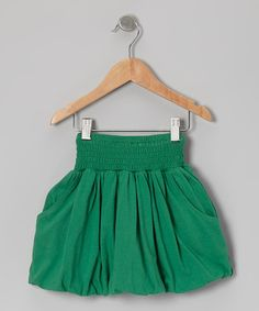 Take a look at this Green Organic Bubble Skirt - Toddler & Girls on zulily today!