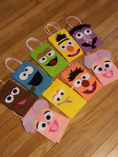 Items similar to Sesame Street Party Favor Gift Bags! on Etsy Monster Birthday Parties, Elmo Party, Elmo Birthday, First Birthday Parties, Birthday Party Themes, Farm Party, Birthday Ideas, Sesame Street Party, Sesame Street Birthday Party Ideas