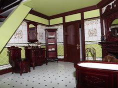 Victorian Bathroom.  Une création: http://englishmanordollhouse.blogspot.fr/
