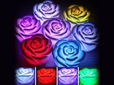 AliExpress GroupBuy Lâmpadas LED no Formato de Rosas em 7 Co...