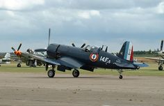 F4U-Corsair-F-AZYS, in French Navy (Marine Nationale) Aeronavale (Fleet Air Arm) scheme - the last users of new built, and non converted Corsairs.