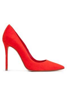 Red Stilettos - zapatos de salón en ante rojo - tienda de zapatos Pura López · PURA LOPEZ