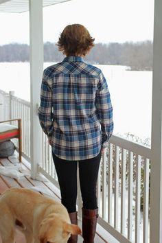 Girls in the Garden: My Fourth Archer Shirt in Plaid Flannel