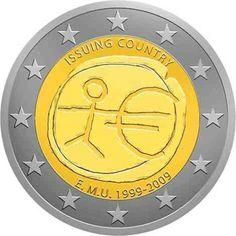 32 Ideas De Monedas 2 Euros Aniversario Emu Monedas Filatelia Sellos