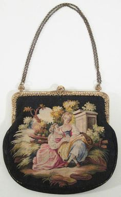 Vintage Beaded and Embroidered Purse Joseph France