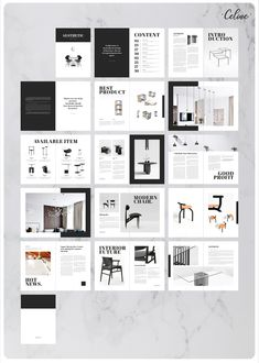Aesthetic - Catalogue Template by CelineStudio on Portfolio Design Layouts, Design Brochure, Booklet Design, Layout Template, Templates, Minimalist Layout, Catalogue Layout, Design Presentation, Furniture Catalog