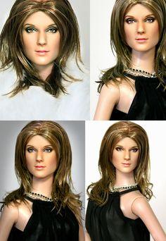 Doll Repainted as Celine Dion by noeling.deviantart.com on @deviantART