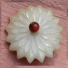 Ming Jade Flower Button
