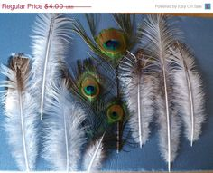 ON SALE Peacock Feathers Assortment by CherylsGoodStuff on Etsy