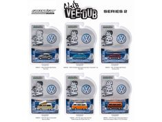 Greenlight Vee Dub Series 2, 6pc Diecast Car Set 1/64 Diecast Model Cars by Greenlight - Brand new 1:64 scale diecast model car of Greenlight Vee Dub Series 2, 6pc Diecast Car Set by Greenlight. Limited Edition. Brand New Box. Has Rubber Tires. Detailed Interior, Exterior. Officially Licensed Product. Each Model is Packed in Individual Blister Pack. Might come with a chase car instead of one of the cars in a set, but it is not guaranteed. Dimensions of Each Car is Approximately L-2 1/2…