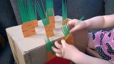 Porkkanamaa | Herää pahvi | lasten | askartelu | kesä | käsityöt | koti | kierrätys | kartonki | pahvi |  DIY ideas | kid crafts | summer | recycling | cardboard | card box | Pikku Kakkonen