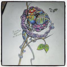 #cameleon #tattoo #toon #tattoodesign #the_inkmasters #uktt #igerslublin #animal #art #sketch #skyporn #design #drawing #florianapplevine #great_art #cartoontattoo #cartoon #color  Florian Studio Tatuażu Valhalla w Lublinie