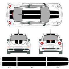 Volkswagen Beetle EZ Rally Racing Stripes 3M Vinyl Stripe Decals ...