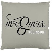 Mr. & Mrs. personalized gift pillow #homedecoration #wedding #personalizedgift