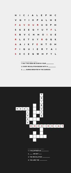 crossword puzzle by secretsnsugarcubes. Hunger Games Pin, Hunger Games Catching Fire, Hunger Games Trilogy, I Volunteer As Tribute, Get Off Me, Mockingjay, Crossword, Games To Play, Programming