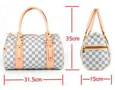 Checked Women's Gray Damier Casual Handbag Shoulder Bag
