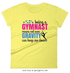 Golly Girls: Being A Gymnast Premium Ladies' T-Shirt (Adult Sizes) only at gollygirls.com