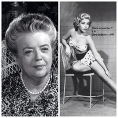 This photo is all over the internet showing the Pin Up girl as being Frances Bavier AKA aunt Bee... don't believe it...it is an actress named Gloria DeHaven ...