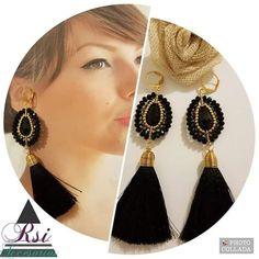 Tassel Jewelry, Jewellery, Diy Friendship Bracelets Patterns, Make Photo, Bead Earrings, Stone Jewelry, Beading Patterns, Jewelry Making, Beads
