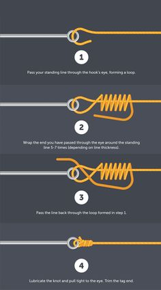 Fishing Line Knot Guide Fishing Rigs, Crappie Fishing, Fishing Boats, Survival Knots, Survival Skills, Rope Knots, Macrame Knots, Fishing Line Knots, Jewelry Knots