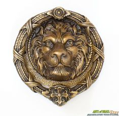 King of the jungle~ Sold Out! Knob New Anthropologie Fabled Fauna Lion Pull