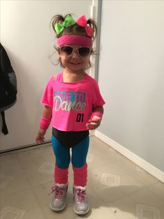 Toddler 80u0027s workout costume & 80u0027s Workout Girl Costume | Halloween | Pinterest | 80 s Workout ...