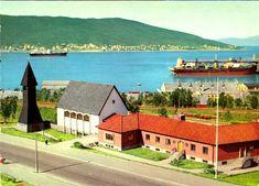 Nordland fylke Narvik med Den svenske sjømannskirken Utg Aune forlag 1970-tallet