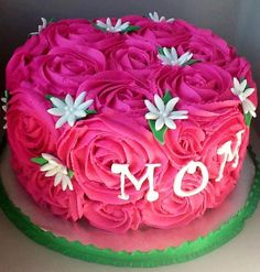 rose cake Olivia wants this for her Birthday. ;)