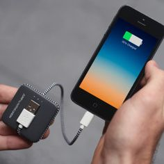 Jump charge your phone on the go with this cable battery duo.