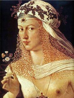 Lucrezia Borgia 1480-1519 daughter of Roderick de Borgia who was Pope Alexander V1