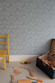 Patterned paint roller no.12 using Farrow & Ball paint